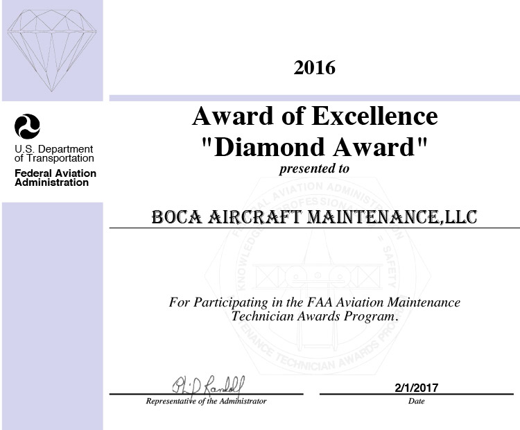 FAA Diamond Award
